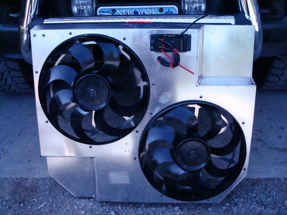 Flex-a-lite 274 electric fans verses stock.. - Ford ...