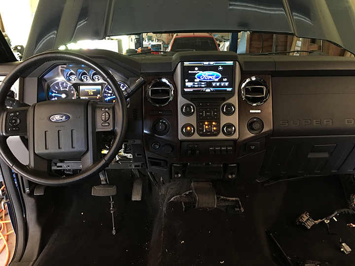 2011 to a 2013 style dash upgrade - Ford Powerstroke ...