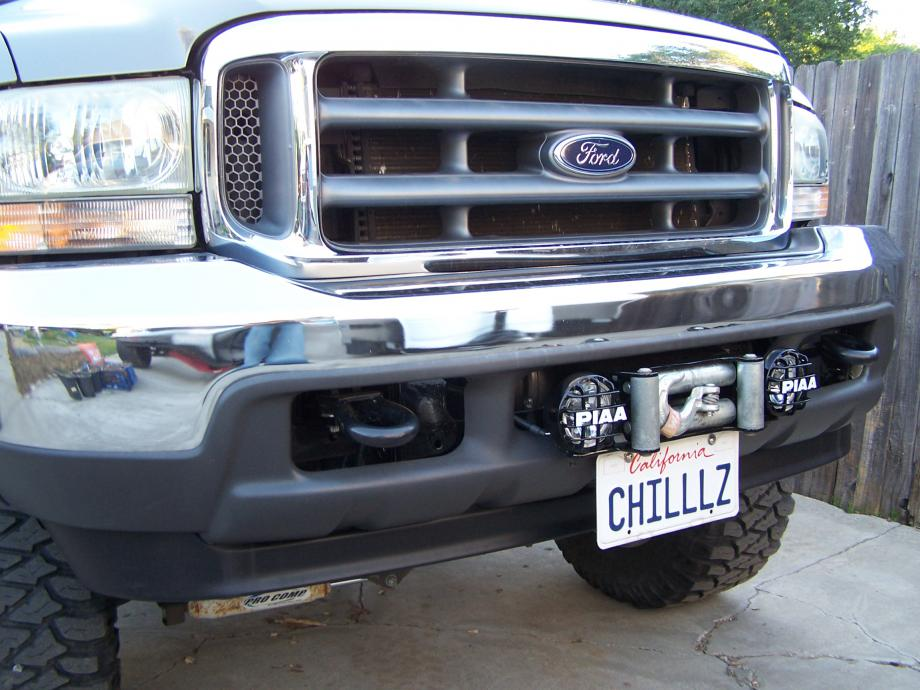 Want To Mount A Winch In Stock Bumper Ford Powerstroke