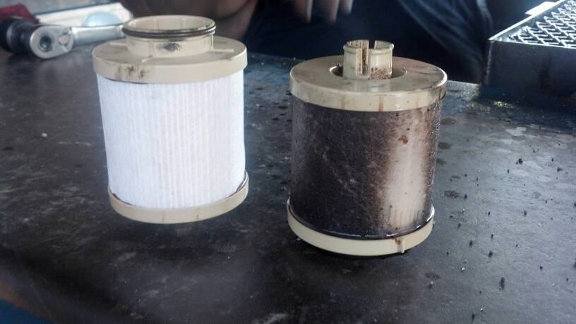 post your fuel filter before after pictures ford. Black Bedroom Furniture Sets. Home Design Ideas
