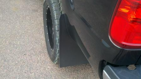 D Bulletproof Mud Flaps on 05 Ford 6 0 Powerstroke Starter Location