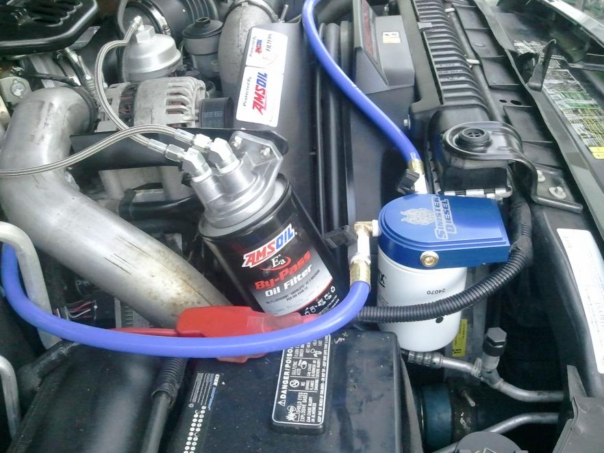 sinister coolant kit and amsoil bypass install - ford powerstroke ...