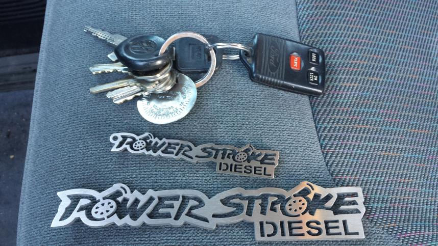 Powerstroke Keychains and emblems!!-20131029_160205.jpg