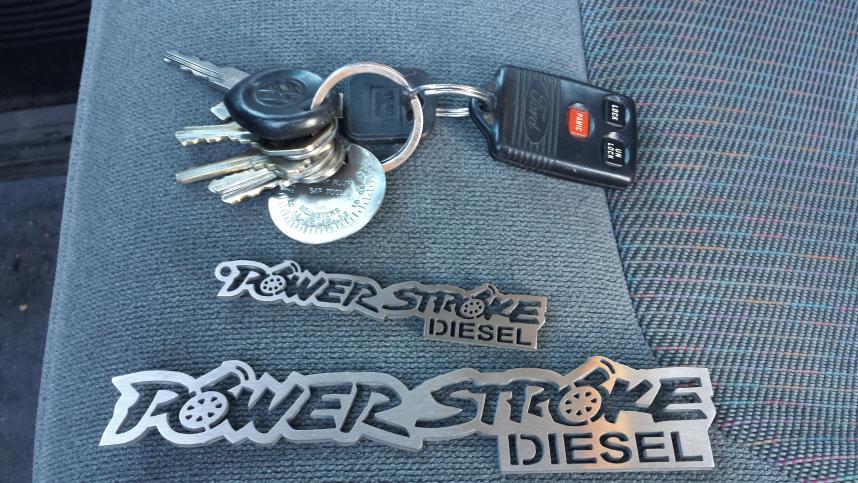 Powerstroke Keychains and emblems!!-20131029_160205.jpg