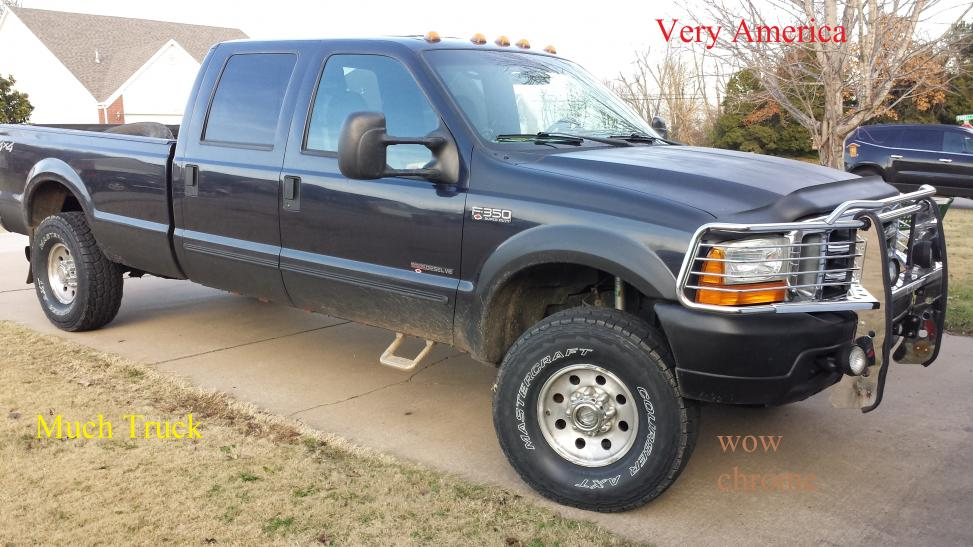 2000 Ford F250 7.3 Diesel Reviews >> 315/75R16 Mastercraft AXT with Leveling Kit and Stock Wheels on 2000 F350 SRW - Ford Powerstroke ...