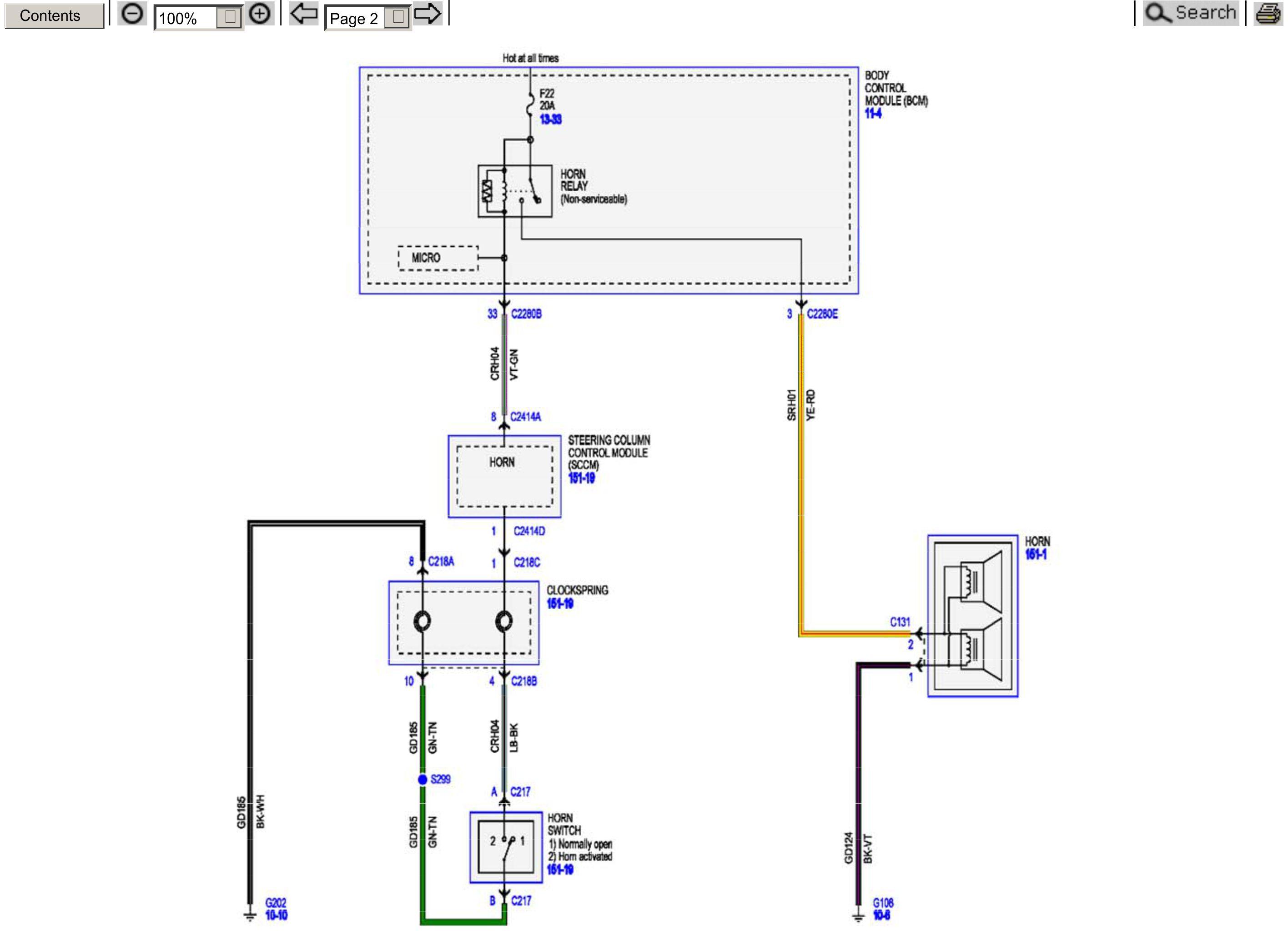 2015 Superduty Factory Horn Wiring Schematic | Ford Powerstroke Diesel Forum | 2015 Ford F 250 Wiring Schematic |  | Powerstroke.org