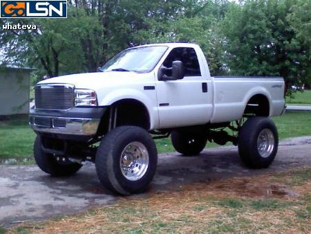 Ford dually semi wheel conversion