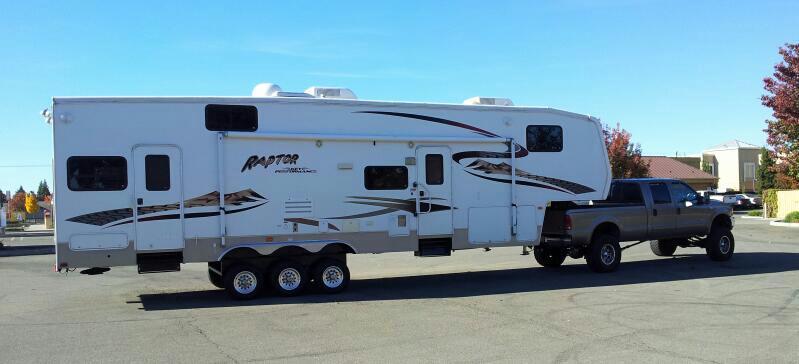 7.3L sand dunes w/ travel trailer - Ford Powerstroke ...