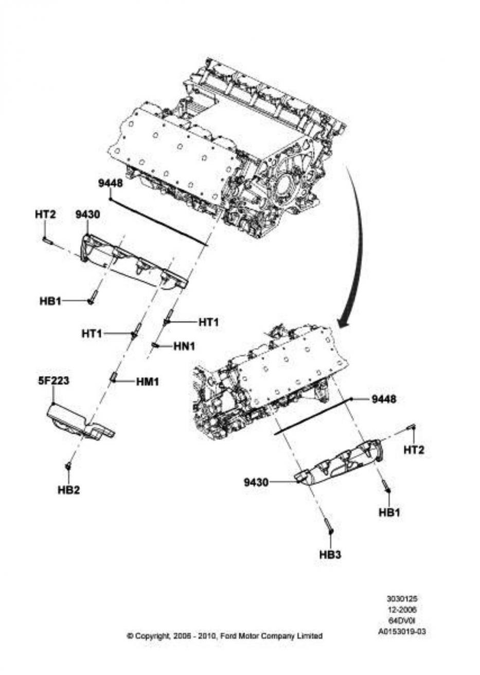 exhaust manifold bolt size