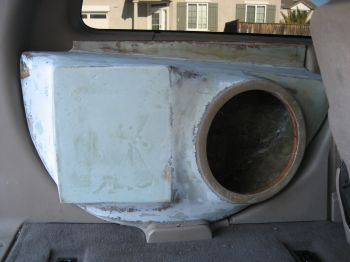 Custom fiberglass sub/amp box for sale - Ford Powerstroke ...
