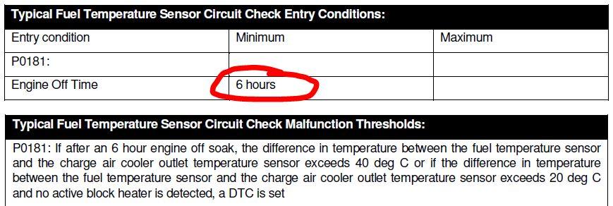 p0181 fuel temp sensor