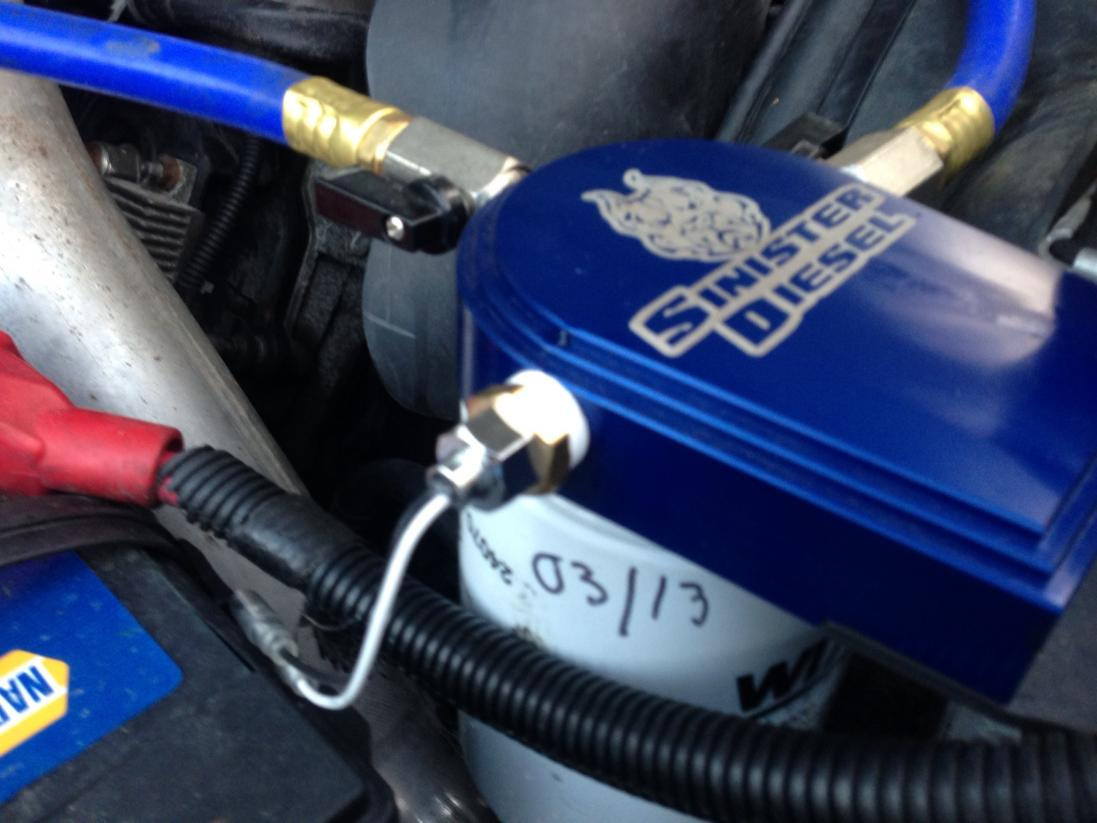 6 5 diesel fuel filter oil temp and coolant temp sending units ford powerstroke 6 0 diesel fuel filter