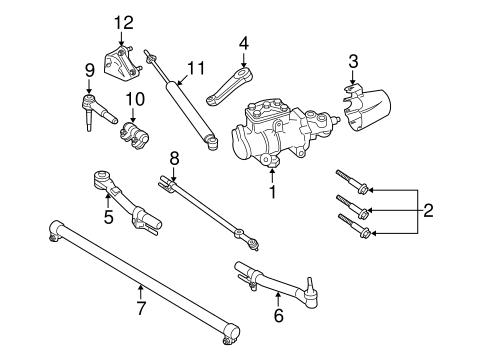 front suspension tie rod ends ford powerstroke diesel