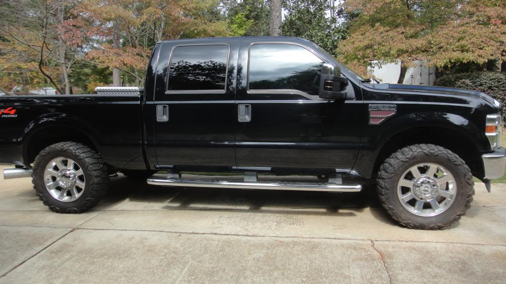 01 F250 Headlights >> Pics of 35's on factory 20's no lift?? - Ford Powerstroke ...