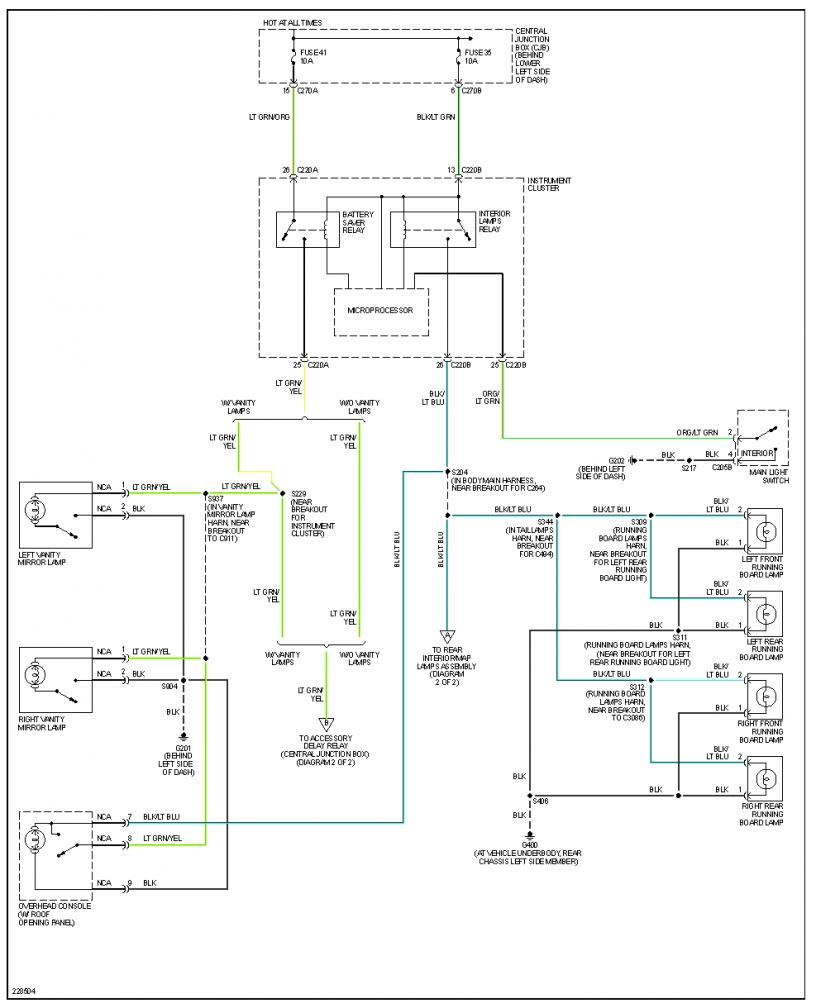 2006 f250 light schematic no map lights ford powerstroke diesel forum  no map lights ford powerstroke diesel