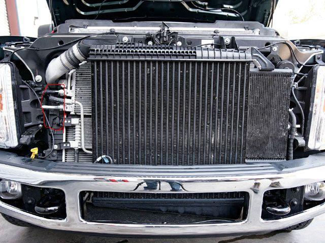 Leak on the left side of radiator-front-view1.jpg