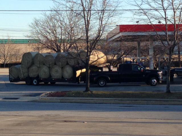 hauling  bales ford powerstroke diesel forum