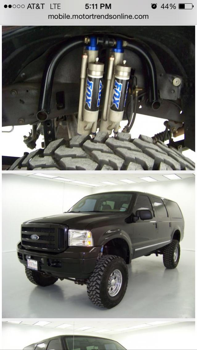 05 Ford Excursion Fox Dual Shock Hoop Ford