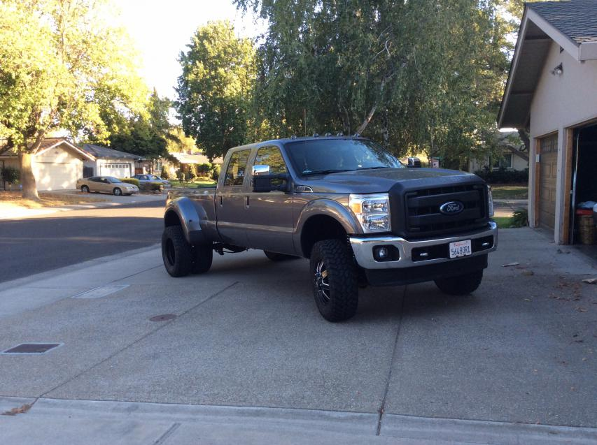 2014 f350 dually with lift tires and wheels ford powerstroke click image for larger version name imageg views 33971 size 968 sciox Gallery