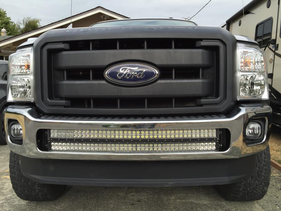 Radius led light bar mounted to front bumper anyone page 6 ford click image for larger version name imageg views 4664 size 943 aloadofball Image collections