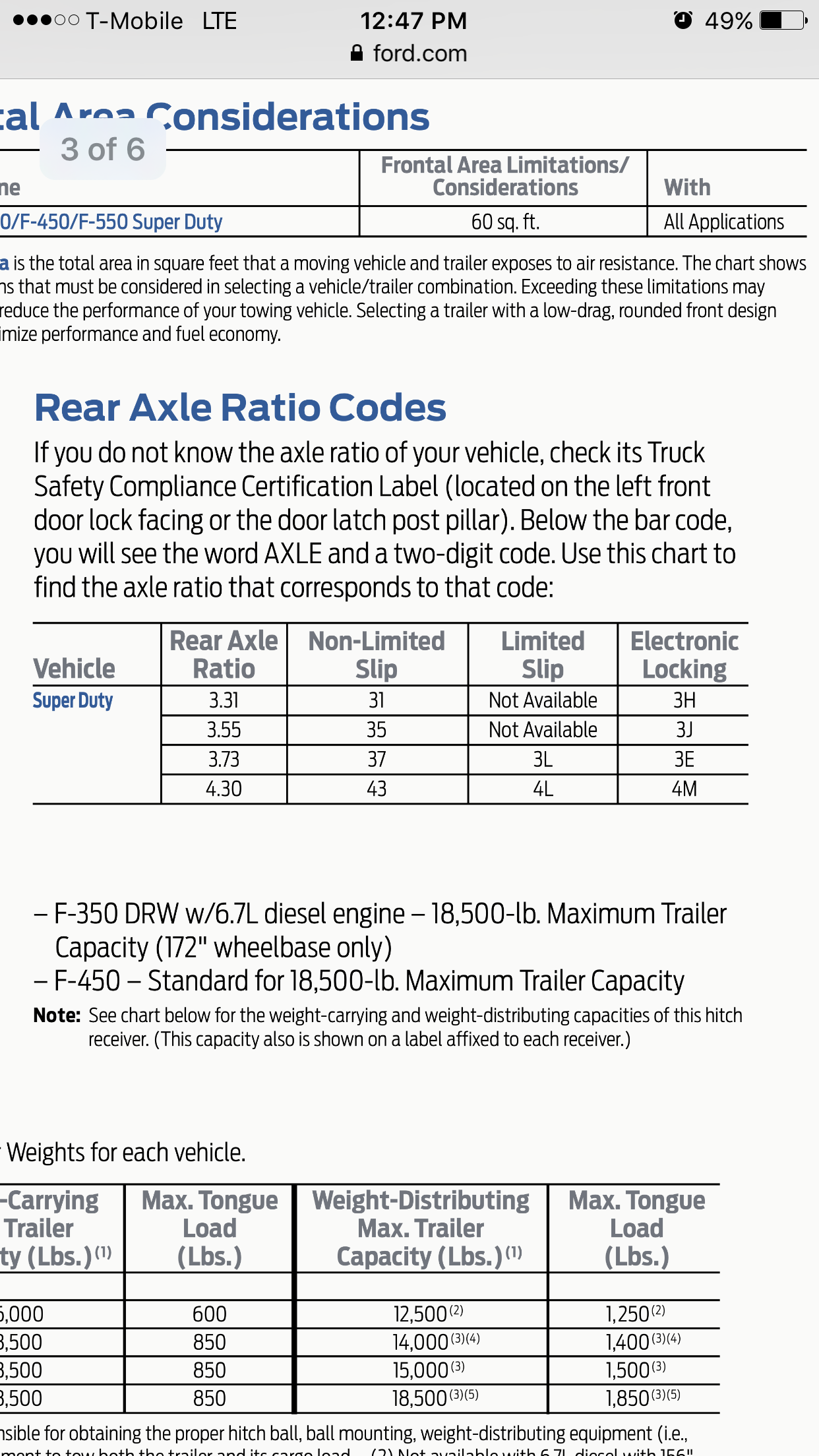How To Find Rear Axle Ratio - Ford Powerstroke Diesel Forum