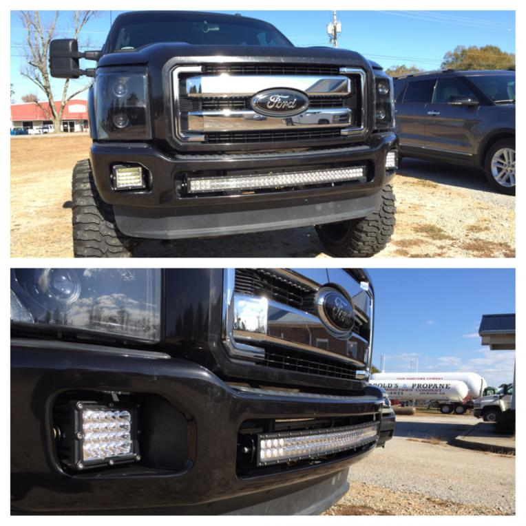 Radius led light bar mounted to front bumperanyone page 5 attachment 361770 aloadofball Choice Image