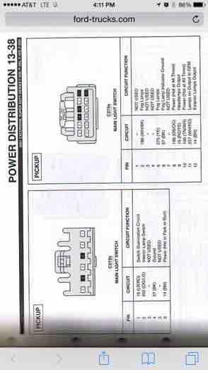 2000 Headlight Switch Pinout