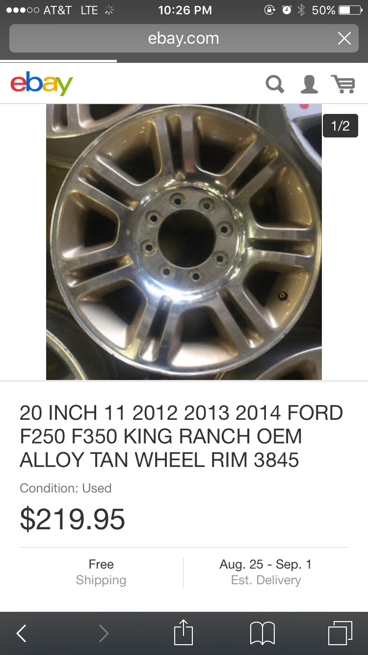 Change Color Of 2013 F250 King Ranch Wheels Ford Powerstroke Diesel Forum