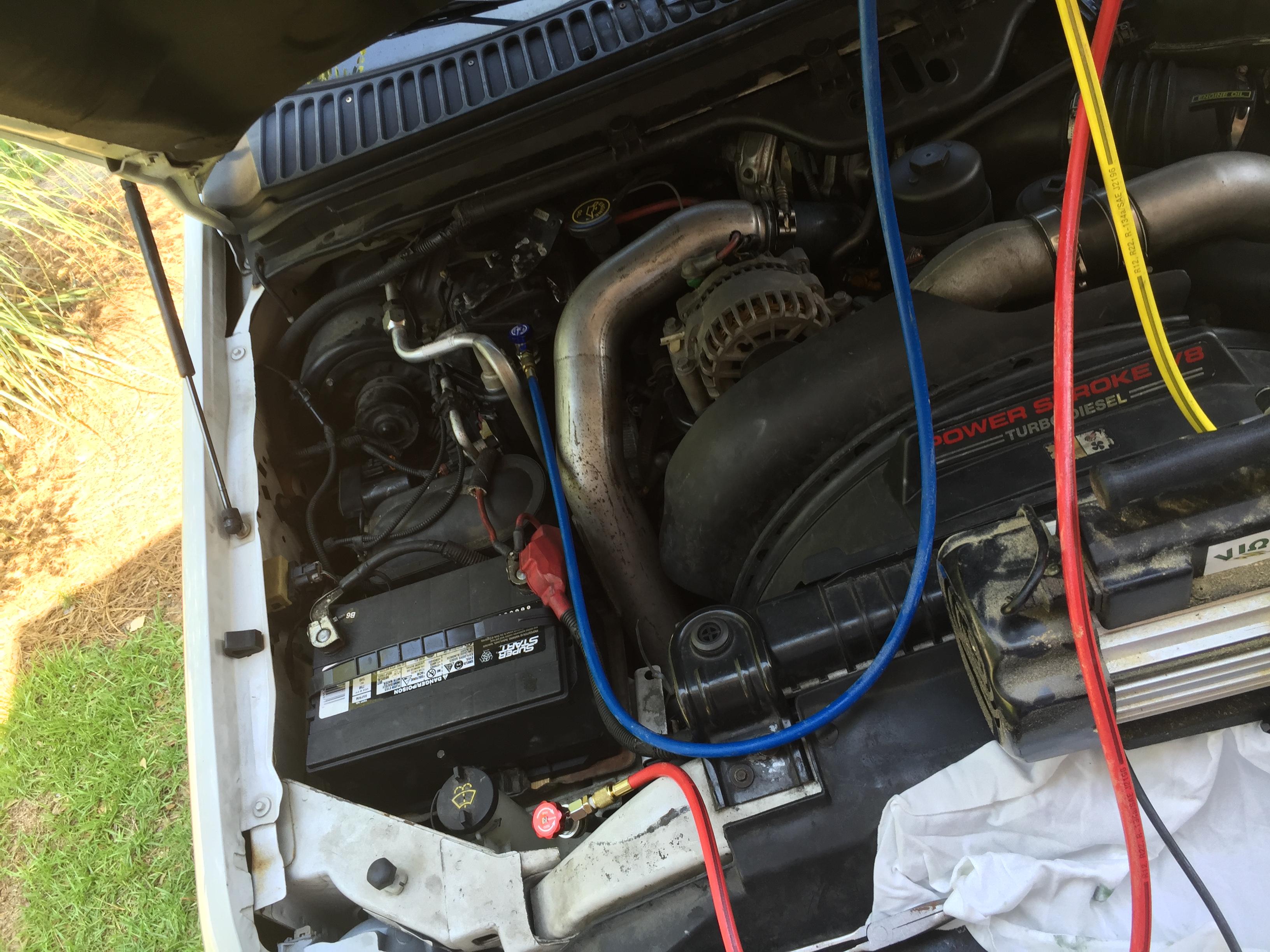 Compressor Low Pressure Switch Location?? - Ford Powerstroke