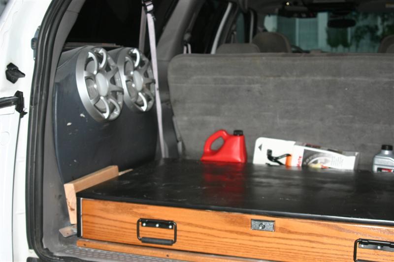 Custom Sub Box For The Spare Tire Ford Powerstroke Diesel Forum