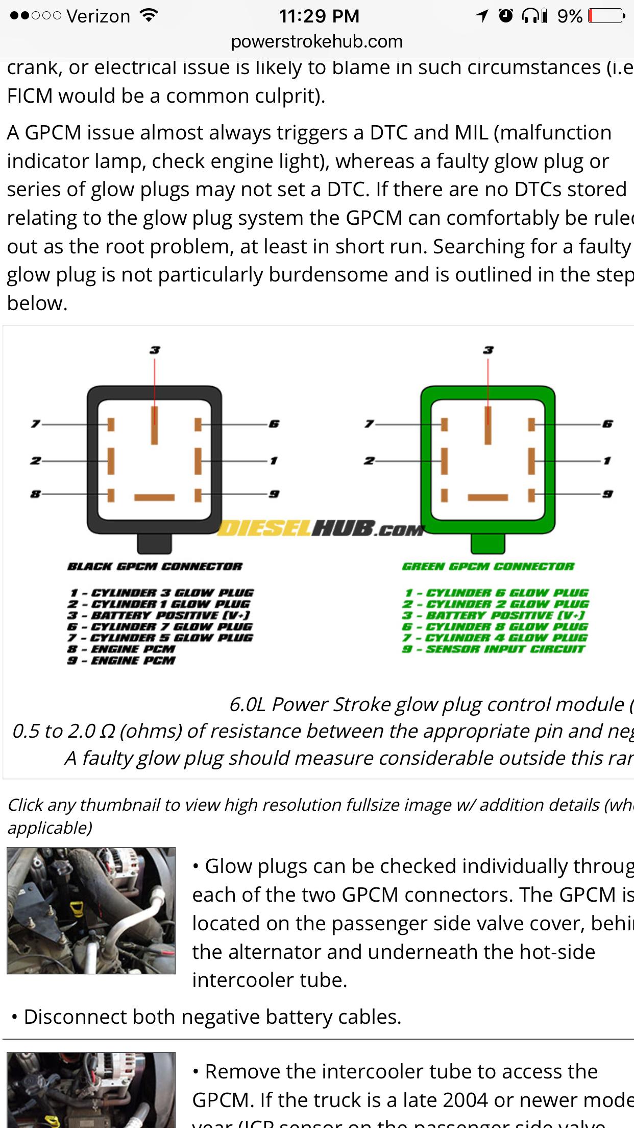 Ford 7 3 Glow Plug Relay Wiring Diagram On 6 9 Glow Plug Wiring