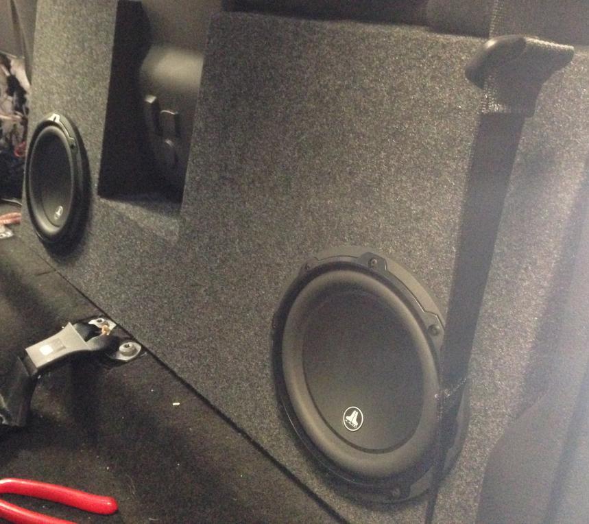 Sub woofer box behind rear seat - Ford Powerstroke Diesel Forum