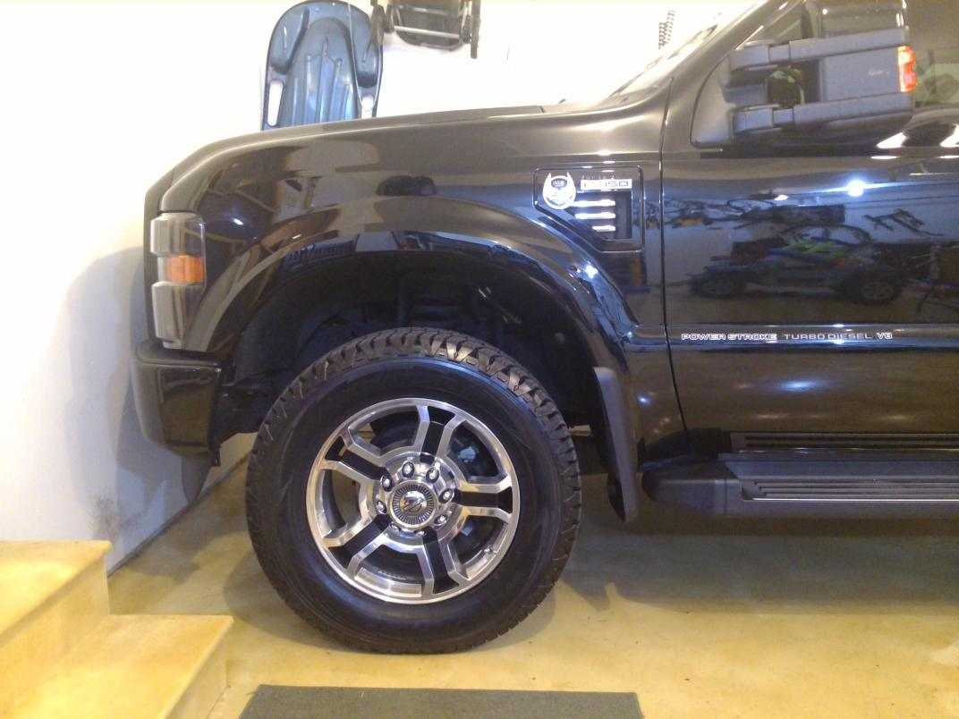 """2 1/2 leveling kit 5"""" rear blocks before/after pics - Ford ..."""