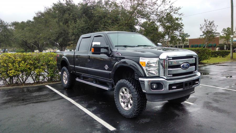 F250 6.7 Powerstroke >> Pics of your lift? Stock rims - Ford Powerstroke Diesel Forum