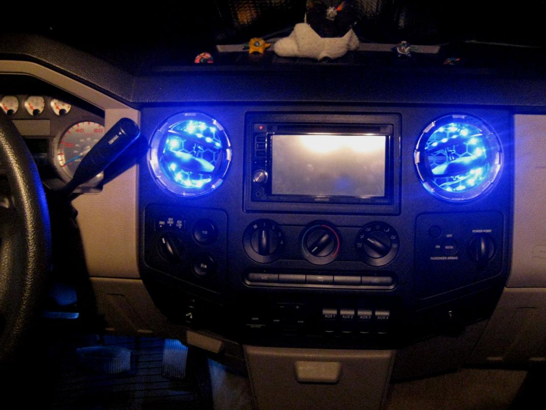 Added led light strips inside ac vents ford powerstroke diesel click image for larger version name img2246g views 8175 size 930 mozeypictures Gallery