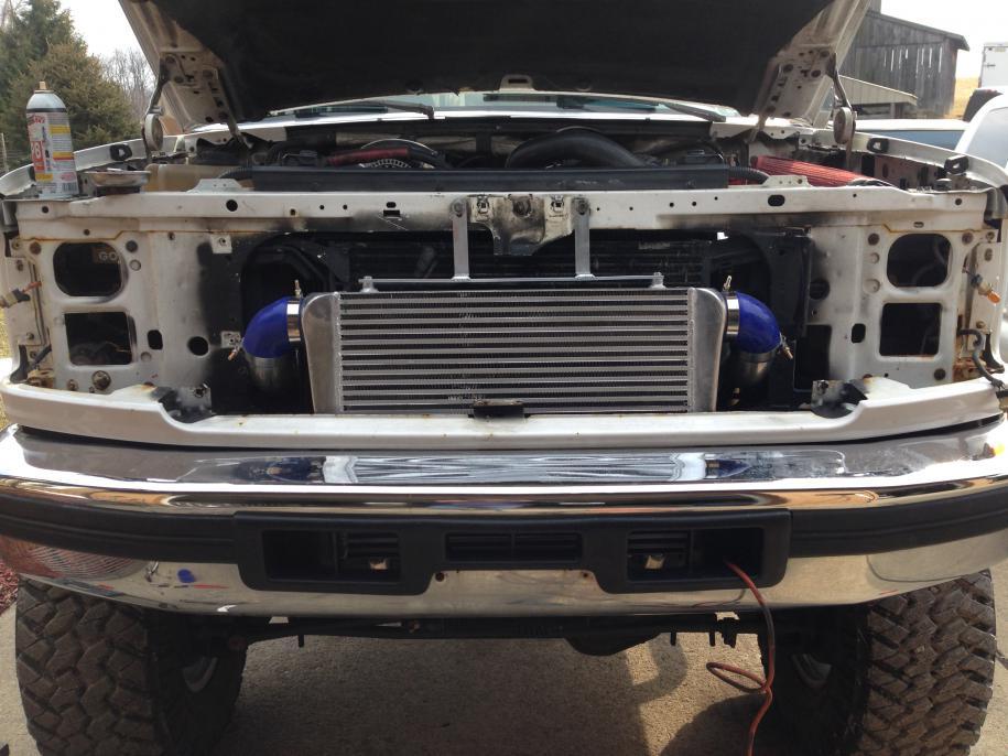 Intercooler Installed Ford Powerstroke Diesel Forum