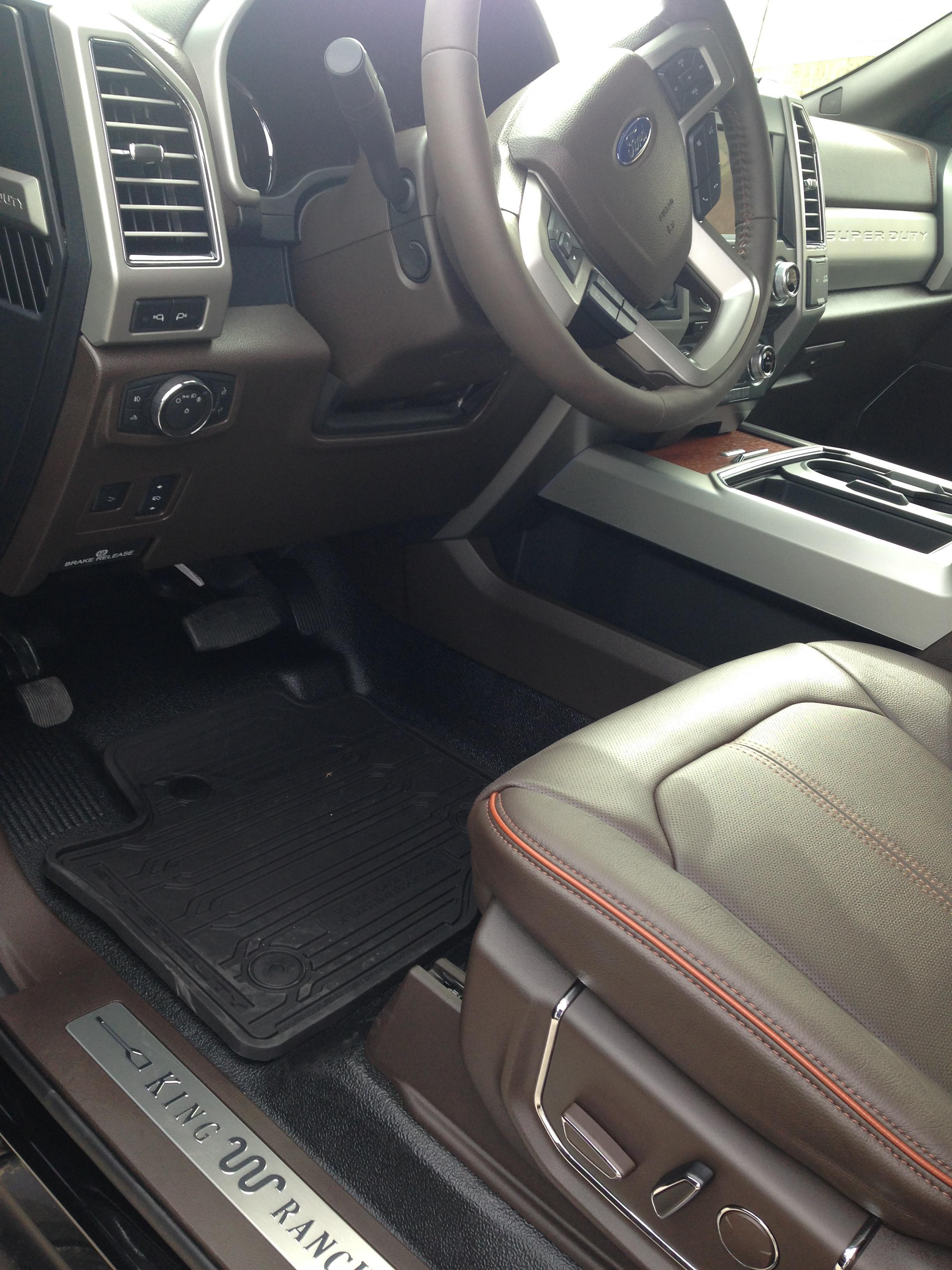 king ranch wvinyl floors  floor mats ford powerstroke diesel forum
