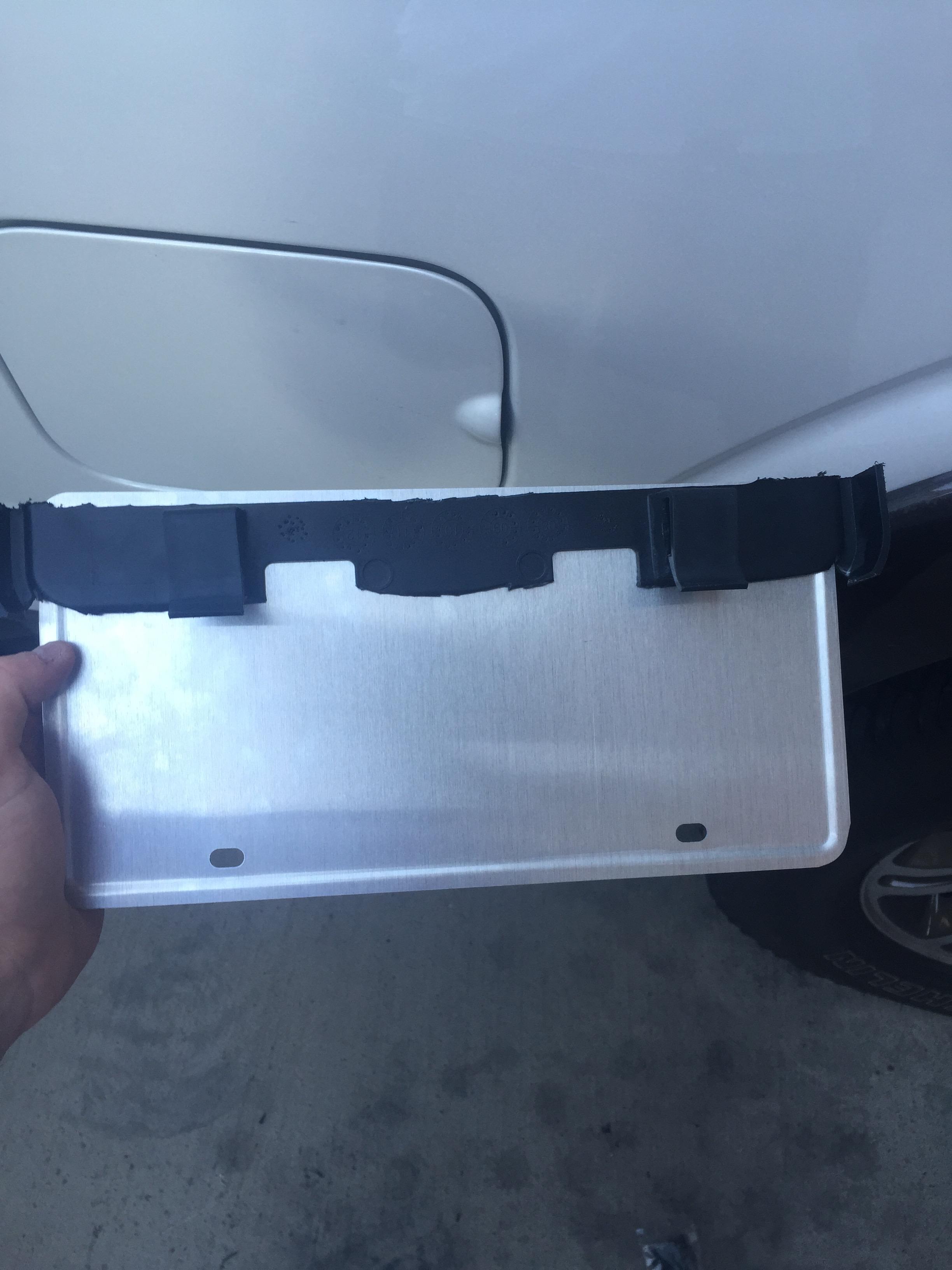 Relocate License Plate For Light Bar Ford Powerstroke