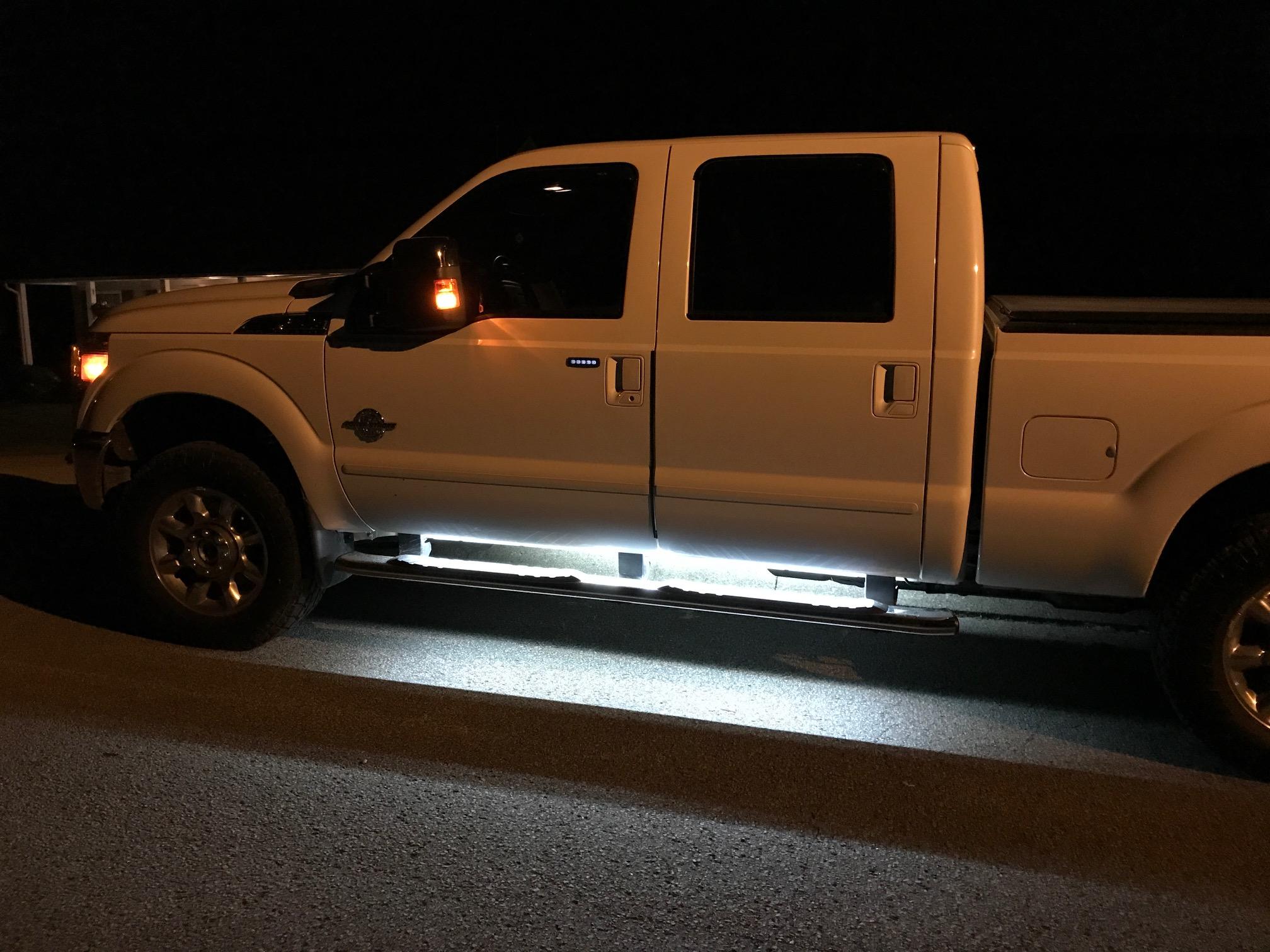 LED Light Running Boards - Ford Powerstroke Diesel Forum