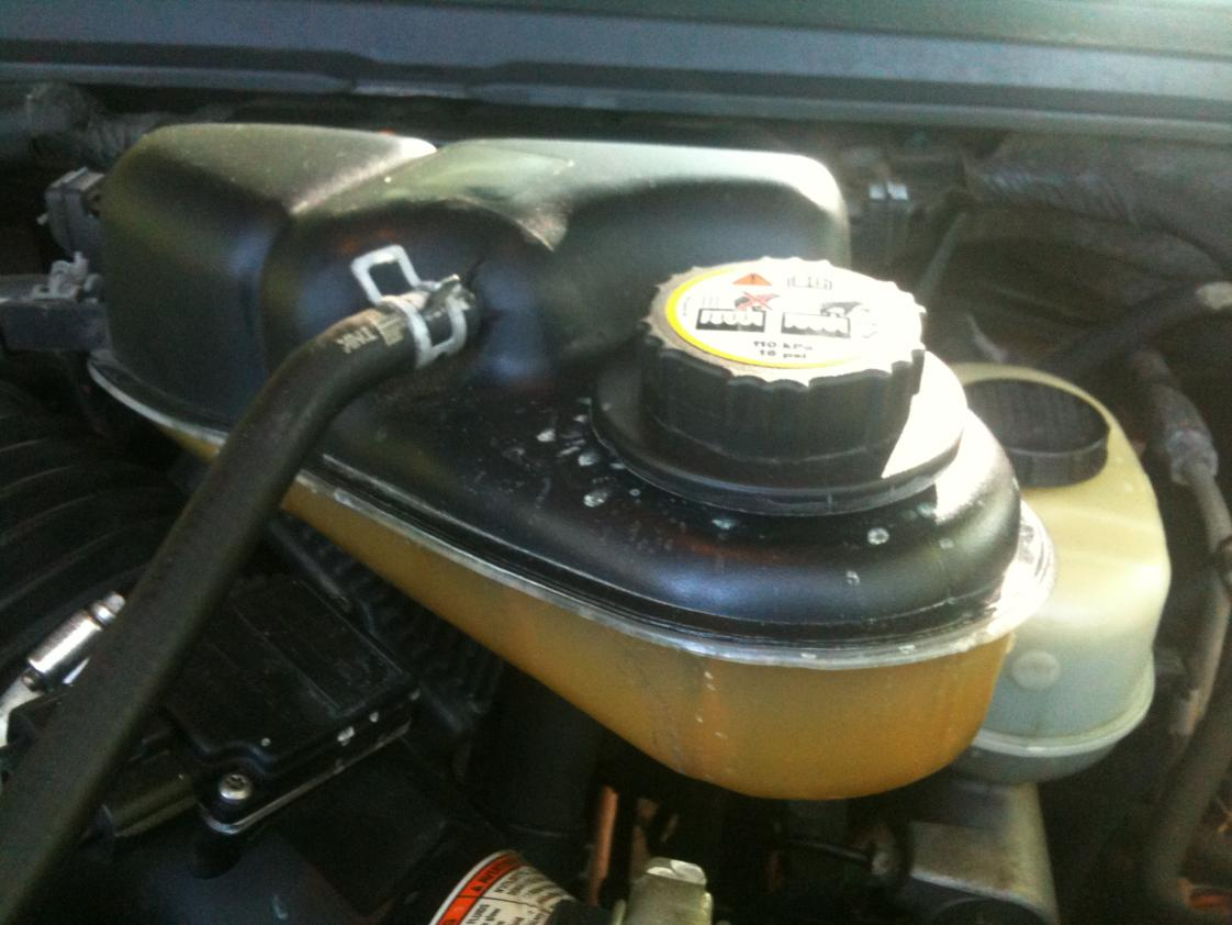 Ford 6.0 Problems >> Coolant Reservoir Cap Leak - Ford Powerstroke Diesel Forum