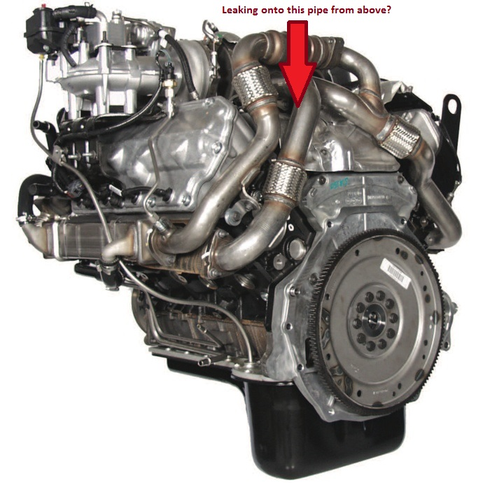Leak at the top rear driver side of engine: Coolant or ...