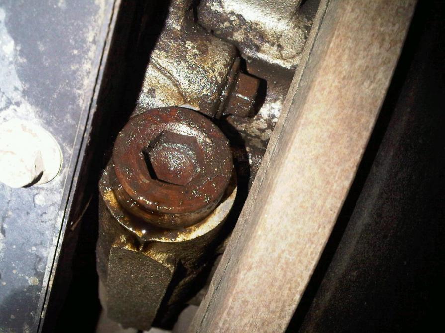 oil leak on bottom front of engine