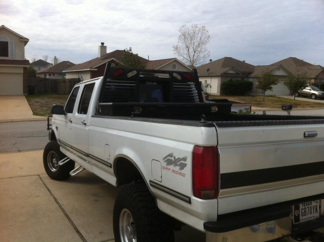 Headache Rack Installed Ford Powerstroke Diesel Forum