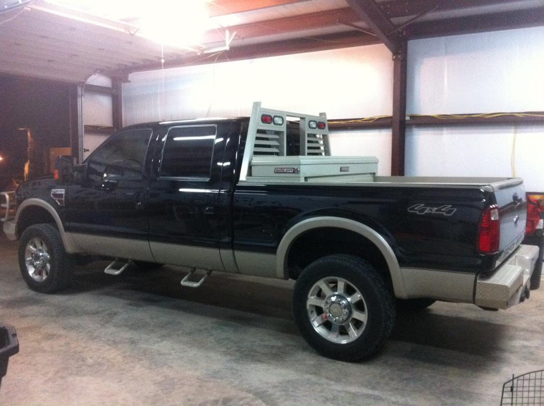 lets see your headache rack - Ford Powerstroke Diesel Forum