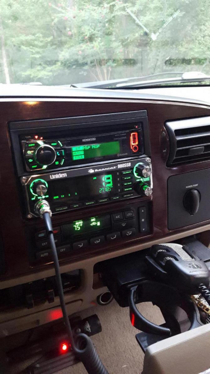 flush mount cb radio install ford powerstroke diesel forum