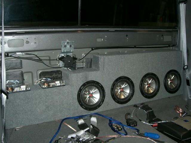 05 Subwoofer Box W Power Slider Ford Powerstroke