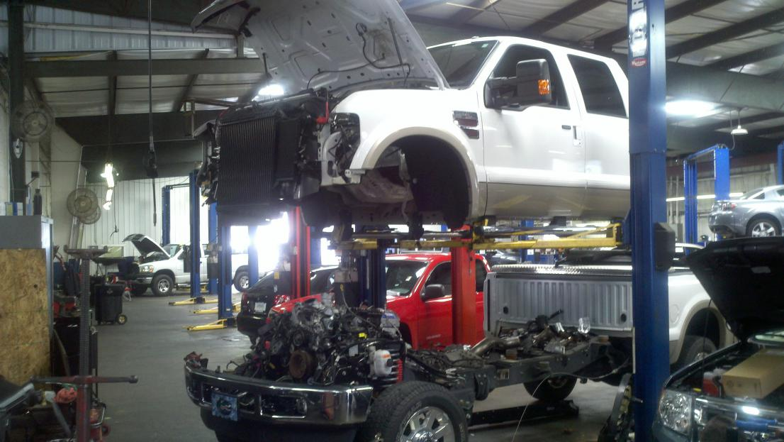 Cab off to replace oil cooler - Ford Powerstroke Diesel Forum