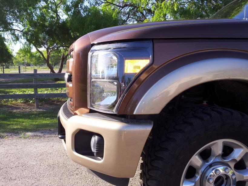 Painted Grille, Headlights & King Ranch Bumper Added-trucklight1.jpg