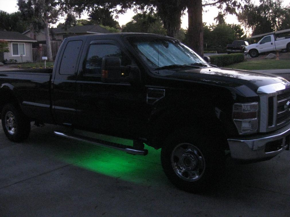 Added LED light strips inside AC vents!-truckunderbodylites9-18-12.jpg