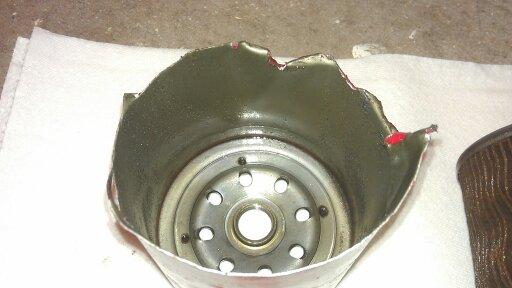 Coolant filter after 5 weeks and 2500kms-uploadfromtaptalk1346374274174.jpg